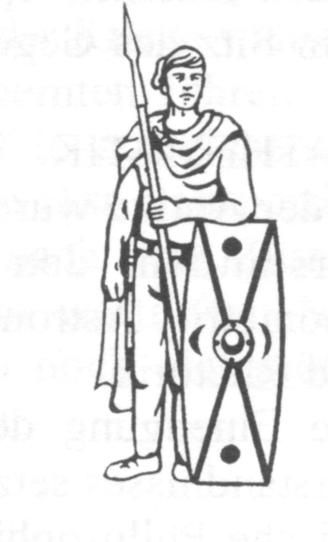 Germanic warrior weapons illustration warrior with